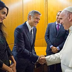 Hot: George and Amal Clooney honored for charity work by Pope Francis