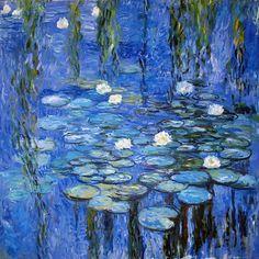 water lilies a la Monet Photograph  - water lilies a la Monet Fine Art Print