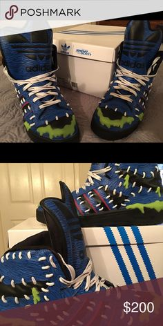 Jeremy Scott Adidas Monster sneakers size 11 Another crazy pair of kicks hubs bought! These are the Jeremy Scott MAD logo editions size 11 never worn and super funky, these are great for any sneaker head! Adidas Shoes Sneakers