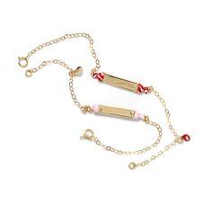 Βραχιόλι ταυτότητα καραμέλα , χρυσό Κ14 Delicate, Jewels, Bracelets, Gold, Fashion, Moda, Jewerly, Fashion Styles, Bracelet