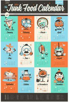 2014 Junk Food Calendar