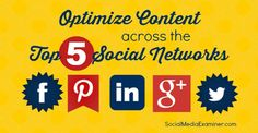 Great information for optimizing your content on Facebook, Pinterest, LinkedIn, Google+ and Twitter. #socialmedia