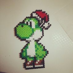 perler beads super mario goomba xmas - Google Search
