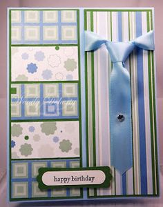 Happy Birthday--I love this card, it is so hard for me to make masculine cards and this one is really good.