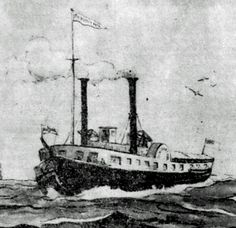 This ship, the Sir Robert Peel, was attacked, looted and burned in 1838 by Bill Johnston and his henchmen. The novel recreates that dramatic event. Newspaper Headlines, War Of 1812, The St, Counter, Novels, Ship, Ships, Fiction, Romance Novels