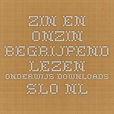 zin en onzin begrijpend lezen onderwijs downloads.slo.nl