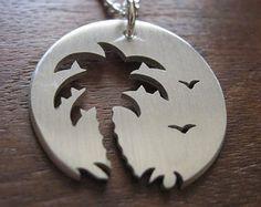 Estrella de plata y colgante de collar de copo por GorjessJewellery