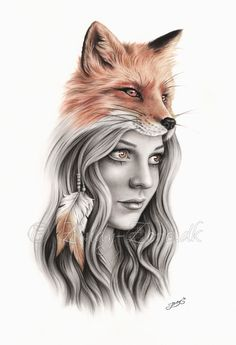Fox and the girl by Zindy on DeviantArt