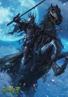 View an image titled 'Eredin Art' in our Gwent: The Witcher Card Game art gallery featuring official character designs, concept art, and promo pictures. Dark Fantasy Art, Fantasy Artwork, Witcher Art, The Witcher 3, Berserk, Fantasy Poster, Olgierd Von Everec, Witcher Wallpaper, Anime Krieger