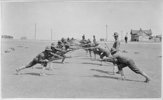Bayonet Practice, 1918 Soldiers participating in bayonet practice at Camp Bowie in Fort Worth, Texas. Afghanistan War, Iraq War, Ww1 Soldiers, Wwi, Arlington Heights, Still Picture, Fort Worth Texas, Texas History, Tanks
