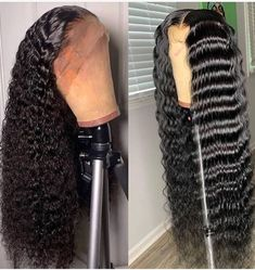 Lace Frontal Wigs Afro Curly Hair Thick Curls Best Women Curly Wigs As – cardoonral Haircuts For Curly Hair, Curly Hair Styles, Natural Hair Styles, Curly Wigs, Human Hair Wigs, Protective Styles, Locs, My Hairstyle, Updo