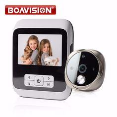Peephole Door Camera 3.0 Inch Color Screen With Door Bell LED Lights Electronic Doorbell Door Viewer Home Security Camera