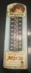Vintage Moxie Tin Thermometer $804.00