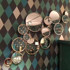 Buy 15 Round Circles Gold Mirror 108 x online now, with Free UK Delivery Gold Circle Mirror, Large Round Mirror, Round Wall Mirror, Round Mirrors, Hall Mirrors, Hallway Mirror, Living Room Mirrors, Mirror Mirror, Mirror Bedroom