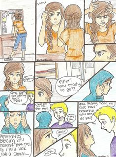 Piper and Jason are so cute <3 not as perfect as Percy and Annabeth, but still cute :)
