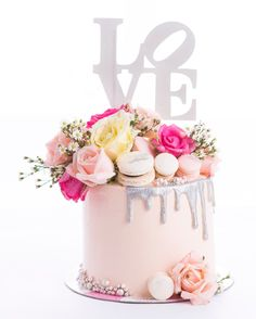 """LOVE barrel drip cake... Perfect for Valentine's, anniversary or just a sweet way of saying """"I love you"""""""