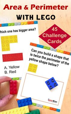 STEM challenge with 50 challenge cards. Hands-on math game for kids learn geometry, great for math center, math club, after school practice. #MathGame #LEGOmath #MathActivities #STEMactivities #STEMforKids #STEMeducation #iGameMomSTEM