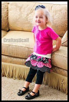 Toddler petal skirt tutorial