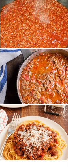 Bolognese sauce for noodles Pasta Recipes, Beef Recipes, Cooking Recipes, Healthy Recipes, Spaghetti, Italian Recipes, Mexican Food Recipes, Comida Diy, Sauce Bolognaise