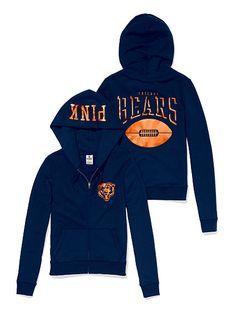 VS PINK Chicago Bears Zip Hoodie
