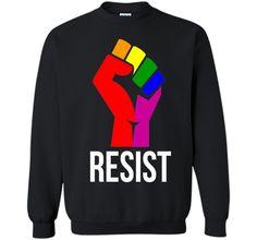 Resist Rainbow Flag National Pride March Shirt for Women Men