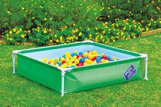 The Chad Valley my first frame pool from #Argos can be filled with water, sand or play balls for 3-in-1 fun for your kids.