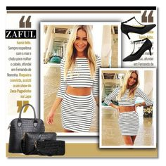 """""""www.zaful.com/?lkid=4034"""" by janee-oss ❤ liked on Polyvore featuring moda, Michael Kors, Martha Medeiros y zaful"""