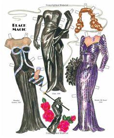 Fabulous '40s and '50s Fashions for Femme Fatales of Film Noir Paper Dolls: David Wolfe, Paper Dolls, Pierre Hale: 9781935223931: Amazon.com: Books