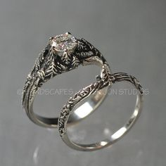 This Unique Rose Gold Morganite Engagement Ring Rose Gold Flower Ring Natural Morganite Engagement Ring is just one of the custom, handmade pieces you'll find in our engagement rings shops. Wedding Ring Gold, Wedding Jewelry, Wedding White, Gothic Wedding Rings, Best Engagement Rings, Engagement Wedding Ring Sets, Wedding Bands, Bling Bling, Rose Gold Flower Ring