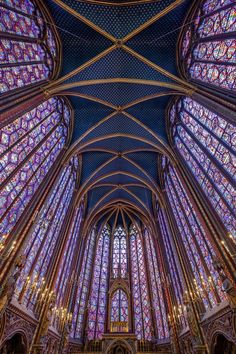 Cathedral Architecture, Sacred Architecture, Concept Architecture, Architecture Design, Paris Architecture, Renaissance Architecture, Sainte Chapelle Paris, Saint Chapelle, Stained Glass Church