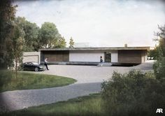 Hampshire based modern architects, AR Design Studio have designed the highly contemporary Folding House for a retired client and his son.