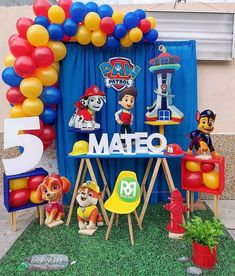 Paw Patrol Birthday Decorations, Paw Patrol Party, Diy And Crafts, Birthday Parties, Police Party Theme, Sonic Party, Birthday, Anniversary Parties, Birthday Celebrations