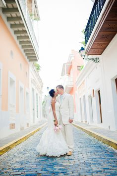 Intimate Old San Juan Wedding Read more - http://www.stylemepretty.com/destination-weddings/2014/02/05/intimate-old-san-juan-wedding/