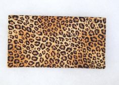 Checkbook Cover  Leopard print by doodlebugquilts on Etsy