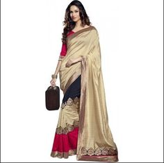 Jute Saree - I found this beautiful design on Mirraw.com