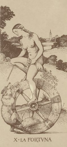 Found tarot art: The Wheel of Fortune (Fortuna) / Sacred Geometry <3