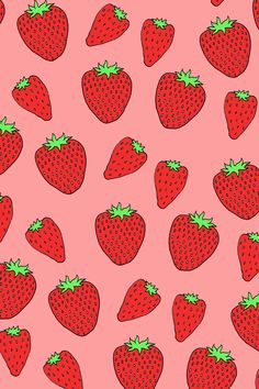 #Strawberry #Pattern / Download more #Fruity #iPhone #Wallpapers and #Backgrounds at @prettywallpaper
