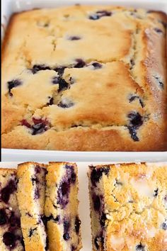 The Best Lemon Blueberry Bread. This bread is super easy to make, moist and bursting with lemon flavor! It is the perfect breakfast or dessert! Keto Desserts, Potluck Desserts, Easy Desserts, Delicious Desserts, Simple Dessert Recipes, Blueberry Lemon Recipes, Blueberry Desserts, Blueberry Bread Recipe Moist, Blueberry Lemon Bread With Glaze