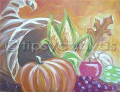 Tipsy Canvas McAllen : Cornucopia - November 6, 2014 Autumn Painting, Autumn Art, Mini Canvas, Canvas Art, Pictures To Paint, Painting Pictures, November, Spirited Art, Halloween Painting