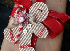gingerbread man gift tags from cardboard