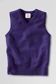 School Uniform Fine Gauge V-neck Sweater Vest from Lands' End Boys Sweaters, School Uniform, Lands End, School Outfits, What To Wear, Vest, V Neck, Model, Clothes