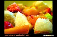 """Si te gusta el té, no dejes pasar la ocasión de probar nuestra mezcla de té verde """"PIÑA-FRESA-ALBARICOQUE"""" con Té verde China Sencha, piña, papaya, albaricoque, petalos de rosa, arandanos, petalos de malva, rodajas de fresa. Entra en http://www.namaste-guadalajara.com/te-verde/43-pina-fresa-albaricoque-.html y descubre nuestras más de cien variedades de té, rooibos, infusiones y café, ven a conocernos en la C/ San Roque 17 – 19002 – Guadalajara – España y te invitaremos a degustar nuestro té"""