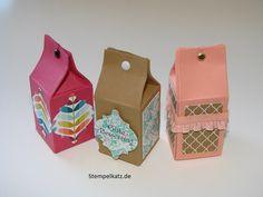 Heute habe ich eine Mini Milchkarton Anleitung für euch. Diese Mini Milchkartons habe ich kürzlich gebastelt:    Süß, oder? :) Ich habe sogar eine klein