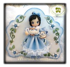 cute partly clay little girl wallhanging (photo)