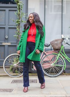 Knitwear designer and sweater affectionado Kristabel Plummer (@iamkristabel) puts Boden knitwear to the test picking out a bright red rib roll neck in merino and cotton blend as her winter wardrobe winner. She adds a little retro touch by styling it with dark bootcut jeans, oxblood boots and a swing-fit green coat. Click through to the Boden blog to read all about Kristabel's knitwear picks.