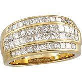 4 Row Channel Set Diamond Ring