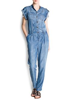 Denim jumpsuit, $99