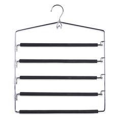 3er Set Zeller Mehrfach-Hosenbügel Metall für je fünf Hosen: Amazon.de: Küche & Haushalt