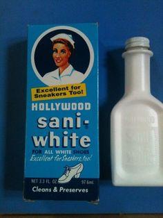 HOLLYWOOD SANIWHITE SANI-WHITE SHOE POLISH WITH BOX NURSE, CHILD, Sneakers kookykitsch.com
