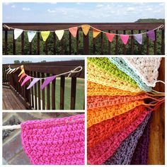 Colorful Crochet Bunting by owlbolt on Etsy, $35.00